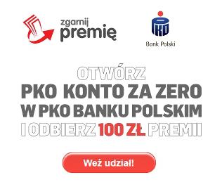 konto za zero z premią 100 zł