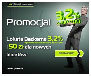 Lokata Bezkarna z premią 50 zł