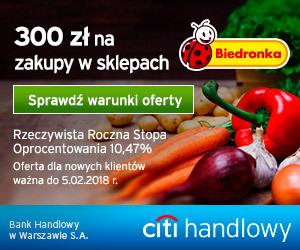 300 zł do Biedronki