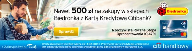 500 zł do Biedronki